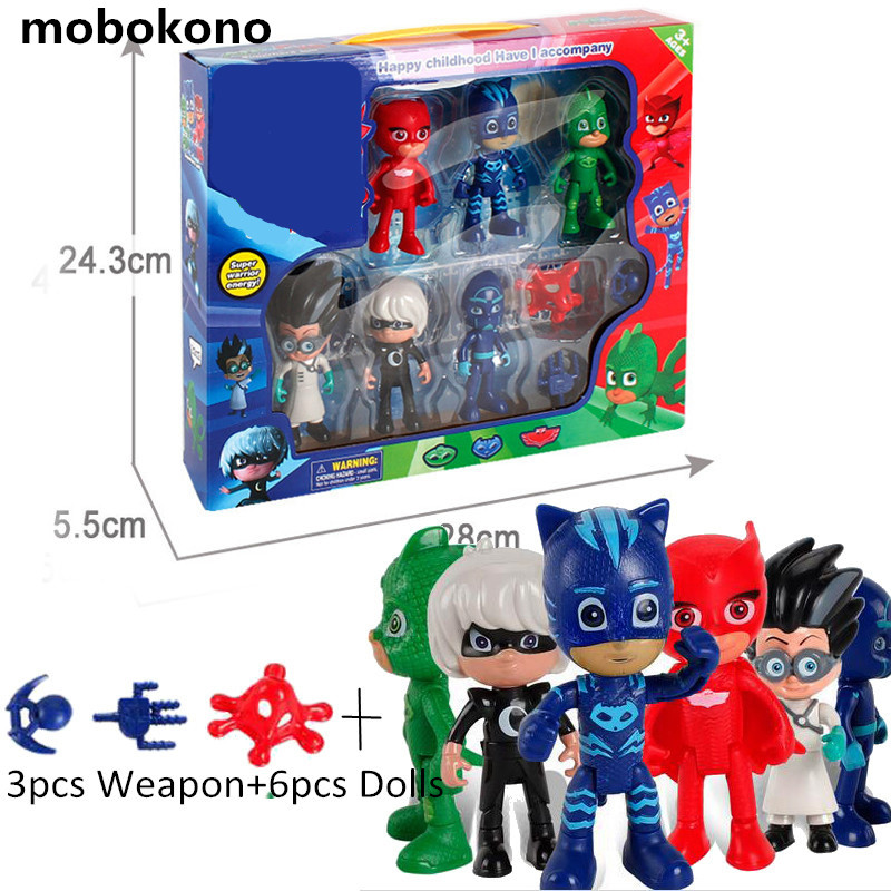 Boys Girls Cartoon Play Toys Peripheral Set With Box Children's Heros Characters Action Figure Toys play toys сборная снего песочная лопатка 70 см