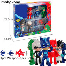 Boys Girls Cartoon Play font b Toys b font Peripheral Set With Box Children s Heros