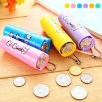 Cartoon Portable Coin Cylinder With Chain Candy Machine Coin Bank Money Saving Box Piggy Bank Kids Gift Piggy Bank L50