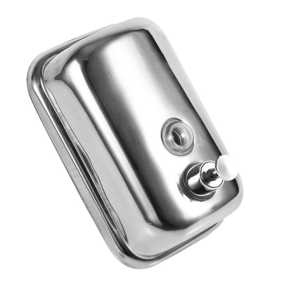 New 500ml Stainless Steel Pump Shower Shampoo Box Liquid Soap Lotion Dispenser Bathroom Washroom  цены