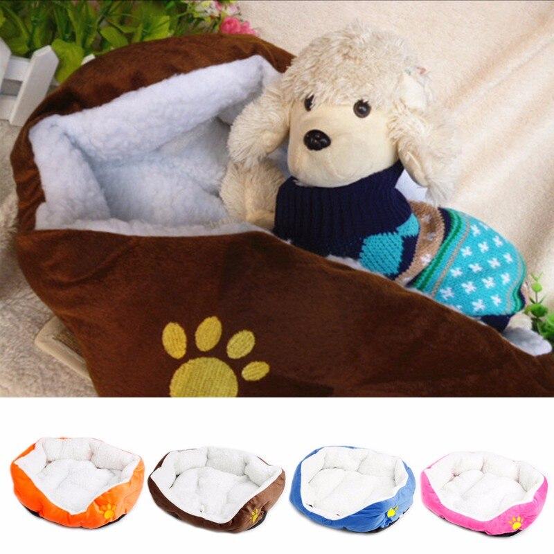 Vernuftig Leuke Pet Doghouse Pet Kat Fleece Gezellige Warme Bed Flanel Zachte Cotten Huis Nest Mat Pad Puppy Kat Kleine Huisdier Kooi Kleuren Zijn Opvallend
