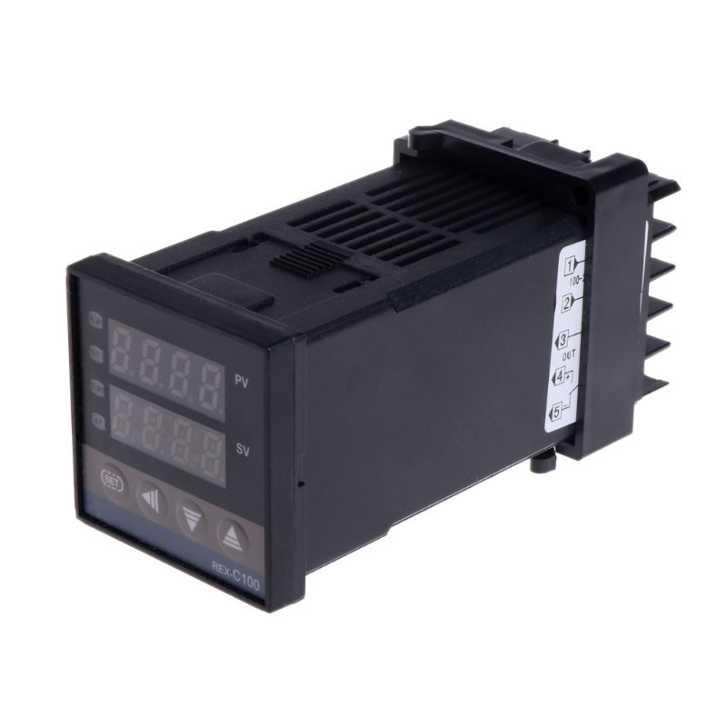 OOTDTY PID Digital Temperature Controller REX-C100 0 To 400Degree C K Type Input SSR Output ...