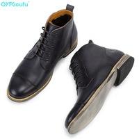 QYFCIOUFU 2019 Autumn Men Boots Vintage Brogue College Style Men Shoes Casual Fashion Lace up Ankle Boots For Man Black Brown