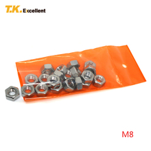 T.K.Excellent 20 Pieces M8 Hex Nut Stainless Steel Materials Hardware Fasteners Tools Hexagon Nuts Home Improvement