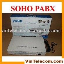 Китай АТС фабрика сразу поставляет CP432 PBX-4 Линии и 32 телефонных расширений порта