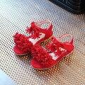 2017 Новый стиль моды детская обувь Девушка Сандалии Принцесса Девочек Сандалии Цветок Девушка Лето Нубук туфли для Танцев