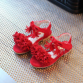 2017 New style fashion baby shoes  Girl Sandals Princess Girls Sandals Flower Girl Summer Nubuck Dancing shoes