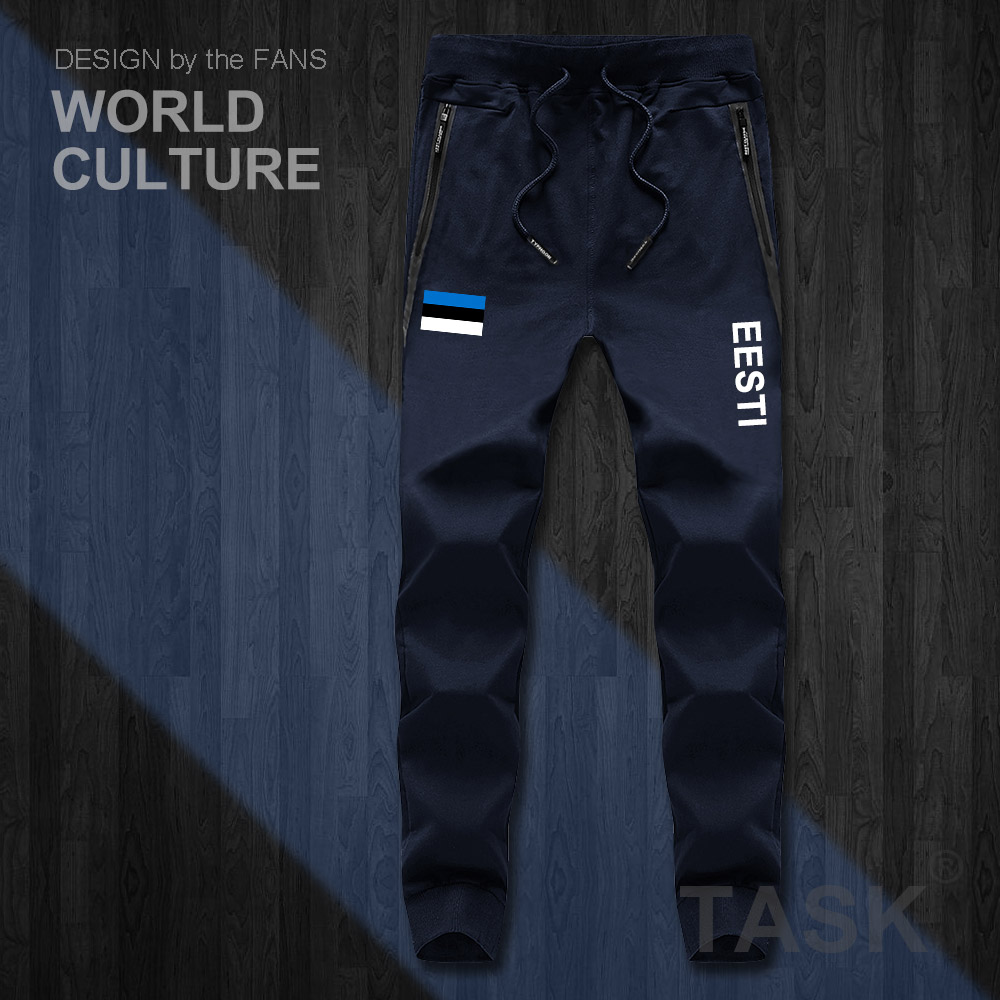 Estonia Estonian EST Eesti Mens Pants Joggers Jumpsuit Sweatpants Track Sweat Fitness Fleece Tactical Casual Nation Country New