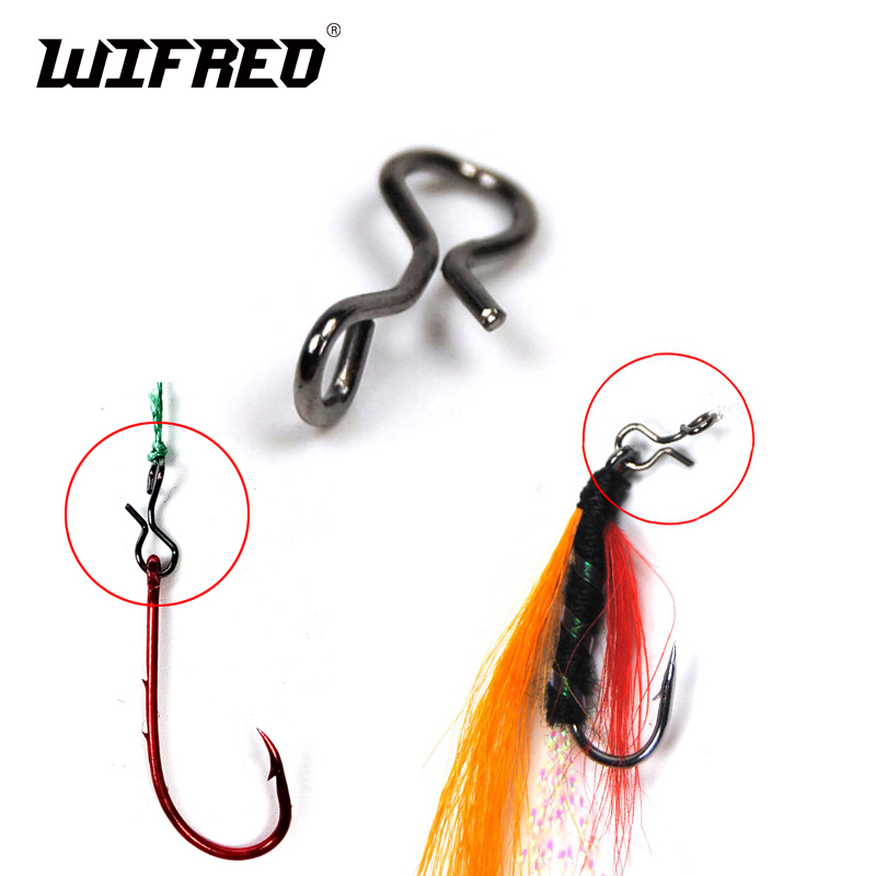 25PCS Black Color Fly Fishing Snap Quick Change For Hook & Lures High Carbon Steel Fishing Accessories
