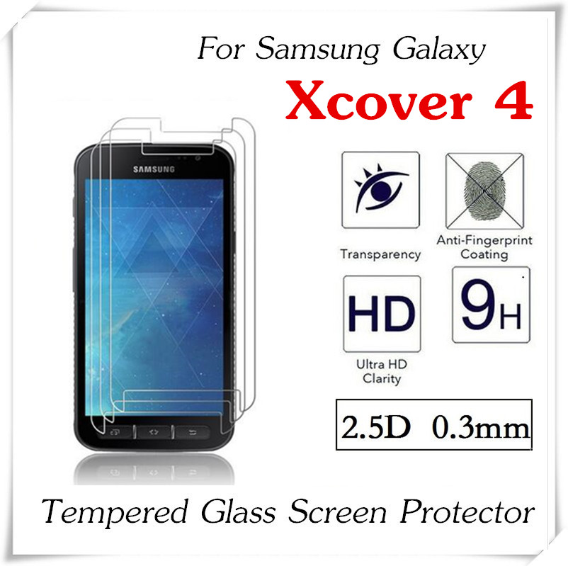 imágenes para 20 unids 2.5D 0.3mm de Vidrio Templado Para Samsung Galaxy Xcover 4 a prueba de Explosiones Protector de Pantalla Anti-Añicos Protector película