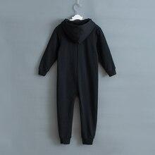 Skeleton Autumn Winter Teens Overalls Jumpsuit Kids Hooded Sleepwear Children Onesie Sleepers Pajamas Halloween Costumes