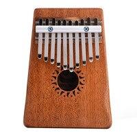 10 Anahtar Kalimba Maun Masif Ahşap Başparmak Piyano Mini Popüler Klavye Enstrüman (çekiç + sticker + şarkı ile kitap + manuel)