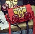 Женская Мода Сумочка Janpan Crossbody Мешок Ретро Перевозки Форма Плеча Сумку День Сцепления Кошелек сумка Оптом Красный Лоскут