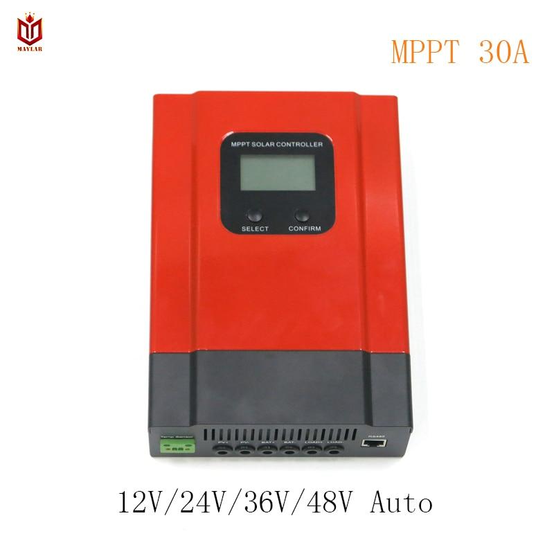 MAYLAR MPPT 30A Solar Battery Charge Controller Esmart3 12V 24V 36V 48V Auto for Max. DC 150V Input off Grid PV Power System auto battery charge controller regulators for 12v 24v 48v 96v system mppt controller