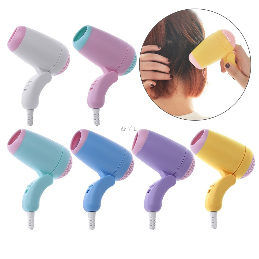 1PCS Lovely 220V Mini Hair Dryer Adjustable Portable Travel Candy Color 400W Hot Cold Air Portable1PCS Lovely 220V Mini Hair Dryer Adjustable Portable Travel Candy Color 400W Hot Cold Air Portable