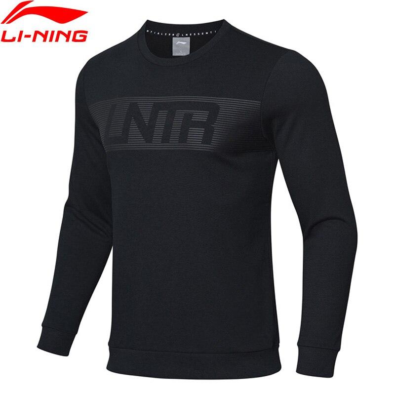 Li-Ning Men Training Sports Sweatshirts Regular Fit 60% Cotton 40% Polyester LiNing Li Ning Sport Sweaters Tops AWDP065 MWW1571