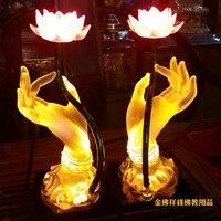 Бывший мира бергамота лотоса цветок лотоса стекло лампа горит светодиодные фонари высококлассные Будды