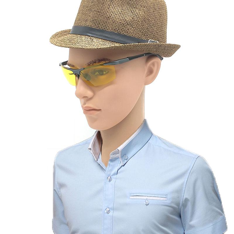 Žluté sluneční brýle Hliníková slitina hořčíku Polaroid Night Driving Men Polarizované sluneční brýle Lentes De Sol Amarillo 10ks / Lot
