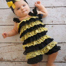 free shipping retail halloween bumble bee costumebee romper