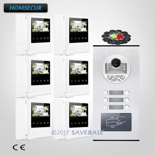 HOMSECUR 4,3 TFT видео дверной звонок безопасности, домофон с ИК Камера для дома/без каблука