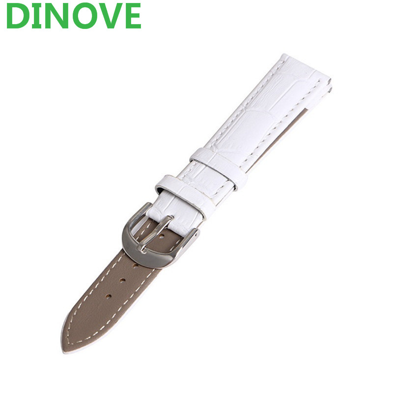 DINOVE White leather watch strap 12mm 14mm 16mm 18mm 20mm 22mm watchband man or woman watch
