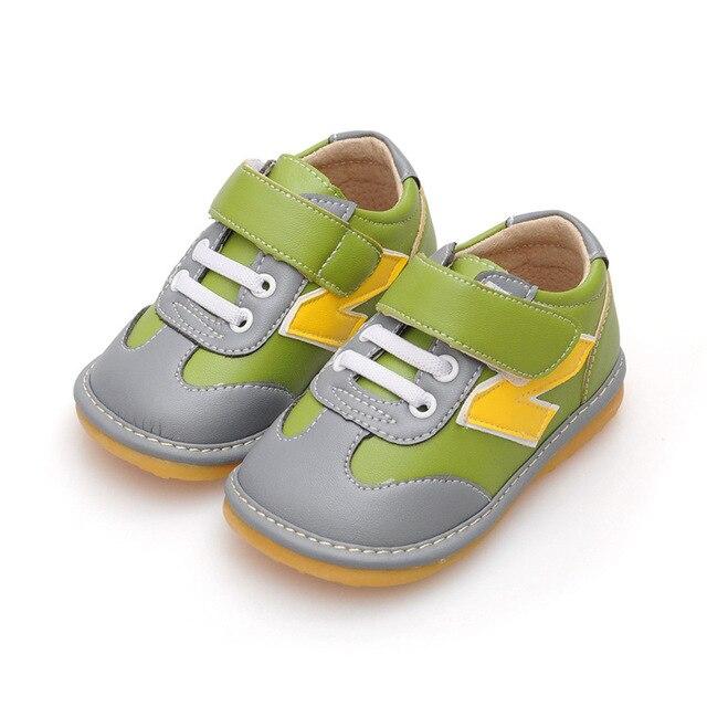 Дети Мальчик 1-3Y Маленькие Кожаные Ботинки Скрипучие Ботинки Нескользящим Малышей Вскользь Ботинки Тапки