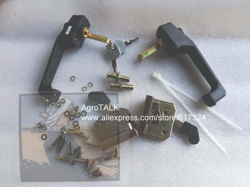 China YTO tractor with cabinet, the set of door locks, part number: LW. NBS502-1-H, Check the shape and code number please