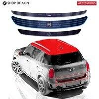 MINI Rear Bumper Trunk Load Edge Protector Foot Plate Guard Rubber Sticker Pad For MINI Cooper