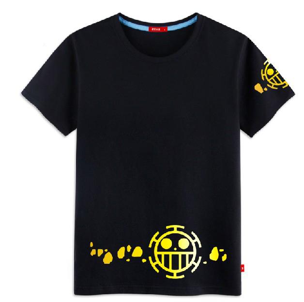 Camiseta One Piece Anime Trafalgar Law t-shirt Cosplay homens mulheres moda estudante de algodão Tops nova de manga curta t-shirt