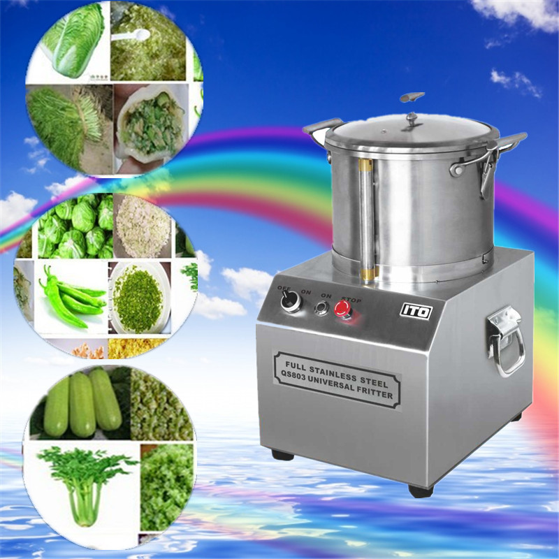 3L full stainless steel universal fritter ,commercial use mincing machine,High-speed meatballs beater,Garlic minced meat chopper top high speed full teeth piston page 3