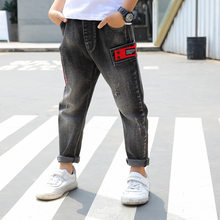Kids Jeans Boys Denim Pant 2019 Spring New Fashion Ripped Toddler Boy Jeans Teenager Loose Harem Children Jeans 5 6 7 8 9 10 12(China)