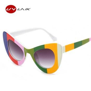 UVLAIK Cat Eye NIRVANA Kurt Cobain Sunglasses Women Butterfly Frame Glasses Vintage Sun Glasses Women's UV400 Sunglass Goggles