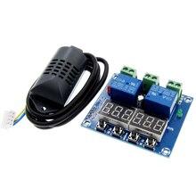 XH M452 ترموستات التحكم في درجة الحرارة الرطوبة ميزان الحرارة الرطوبة وحدة تحكم DC 12 فولت LED شاشة ديجيتال المزدوج الناتج