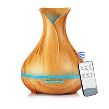 400ml Air Ultrasonic Humidifier Essential Oil Diffuser Aroma Lamp Aromatherapy Electric Aroma Diffuser Mist Maker for Home-Wood цены