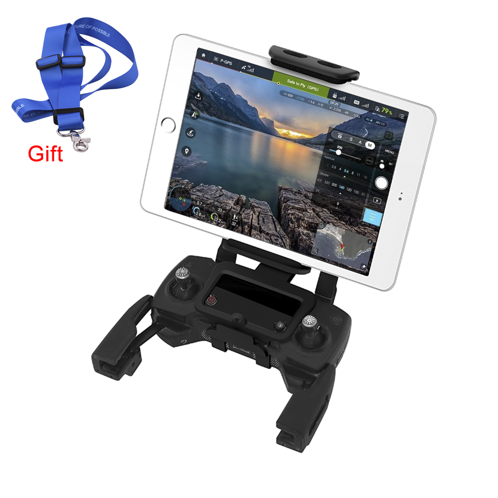 DJI Mavic Air Tablet Bracket Holder for Mavic Pro Spark Drone Remote Control Mount for iPad mini Phone Front View Monitor Stand