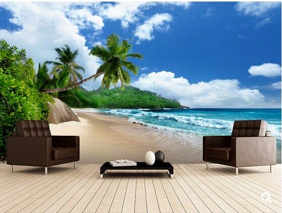 Custom Beach Nature Wallpaper,Mahe Island Beach, Seychelles,3D photo for living room bedroom kitchen waterproof wallpaper. beach house
