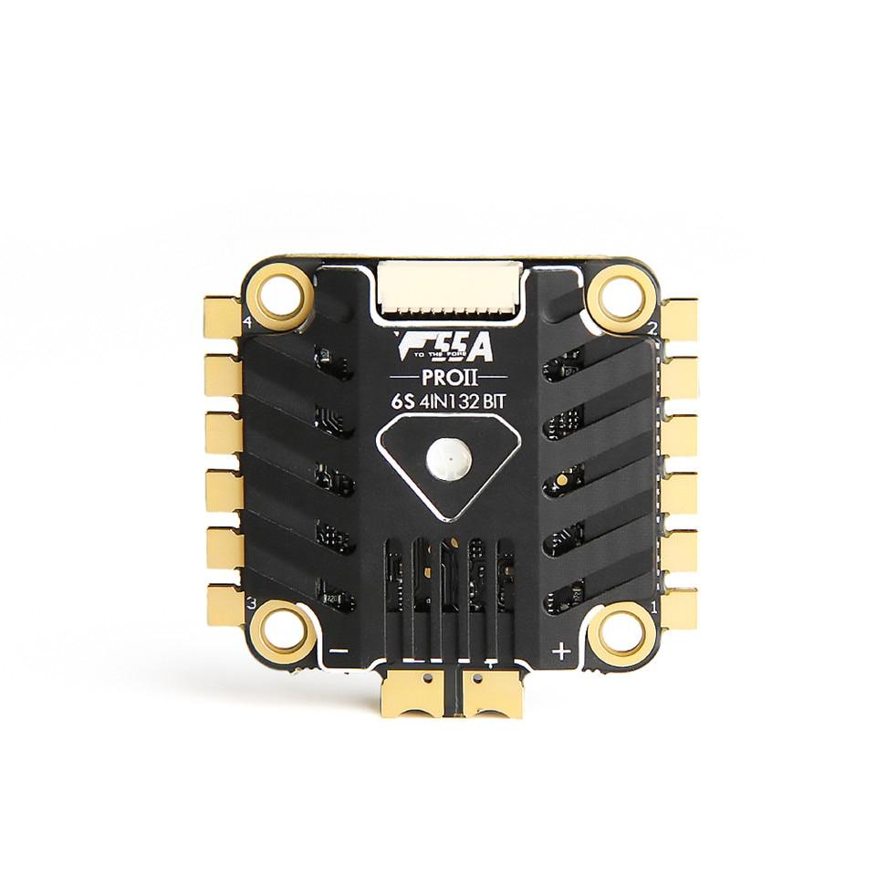 F55A PRO 6 S 4IN1 32bit 6 S 4IN1 de 32 bits ESC w LED BLHELI 32 DSHOT1200 FPV sin escobillas ESC con 10 V BEC ESC para FPV que compite con el zángano - 3