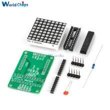 Módulo de matriz LED roja MAX7219 7219 8X8, controlador MCU, controlador de pantalla, controlador para Arduino cátodo común, bricolaje