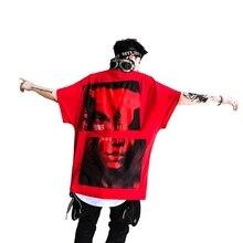 Gli uomini di estate di grandi dimensioni hip hop t shirt personalità punk hiphop  tshirt homme donne hiphop sciolto dance street. 560c1ddd4ee8