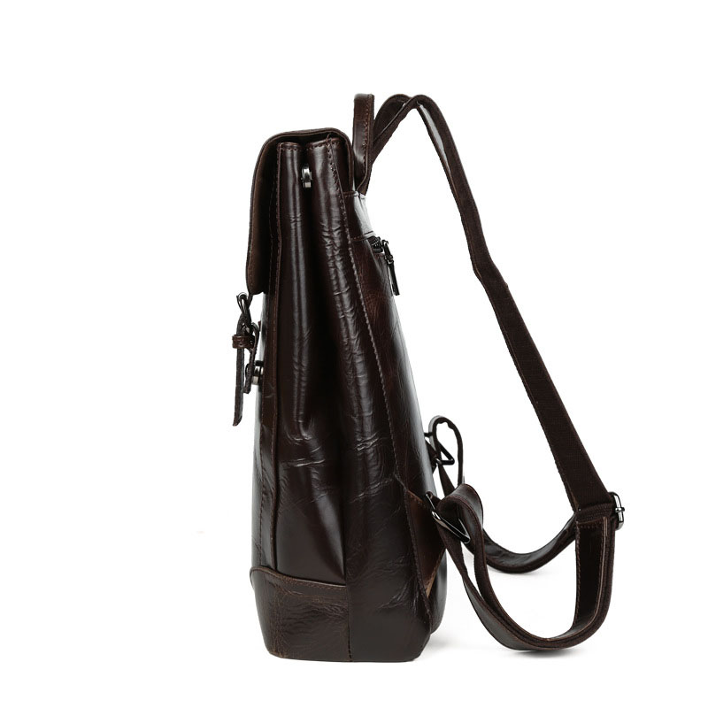 Große Kapazität Neue Unisex 1 Koreanische Männer Echtem Rucksäcke Frauen Und Weibliche Mode Reisetaschen Tasche Öl Schulter Leder 6qROrA6