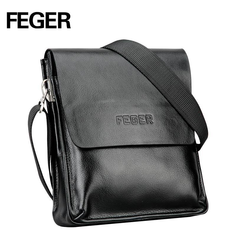 FEGER Best Selling Men s Messenger Bag pu leather Single Shoulder Bag for Men Bag free