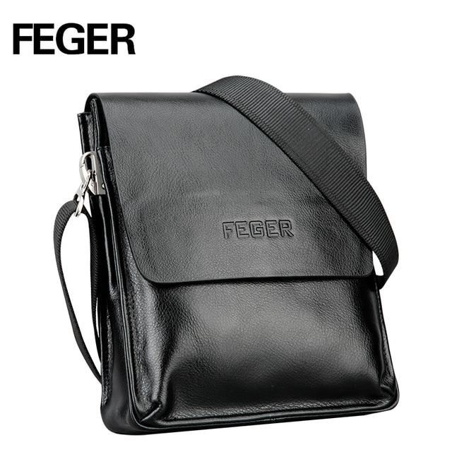 cb5c6a882e FEGER Best Selling Men s Messenger Bag pu leather Single Shoulder Bag for Men  Bag free shipping