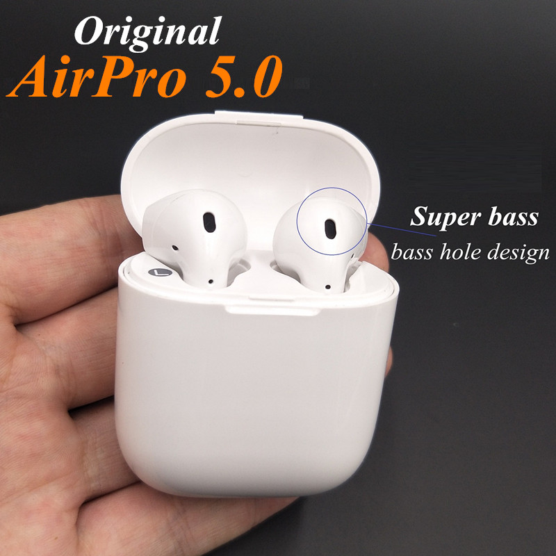 Original AIRPRO Handsfree Mini Bluetooth Ear Earbuds Earphone wireless not Air Pods Headsets For Android apple iPhone8/7s/7