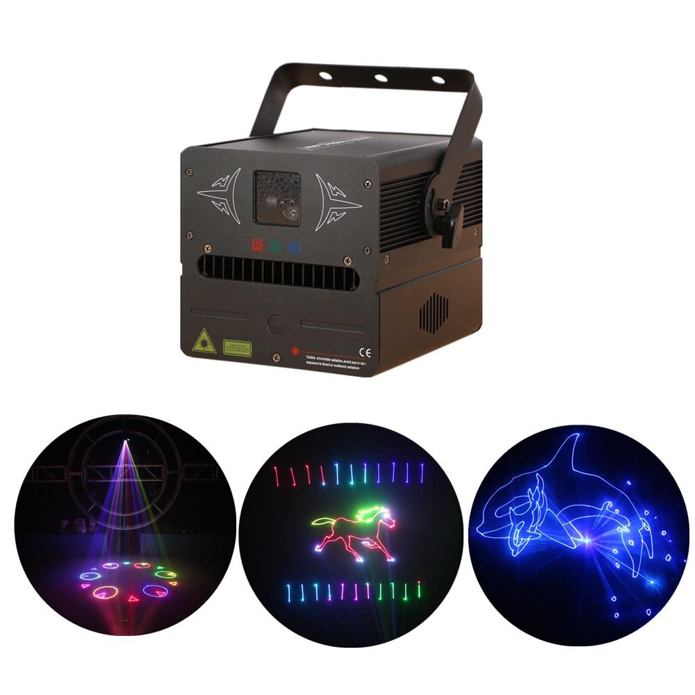 AUCD 500mW Program Edit Play SD Card RGB Beam Animation Scan Laser Projector Lights DMX Dsico DJ Party Show Stage Lighting FBS5