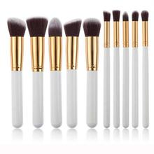 Good Sale 10pcs Multifunctionnal Makeup Brushes Set Powder Foundation Eyeshadow Concealer brush Tool Agu 3