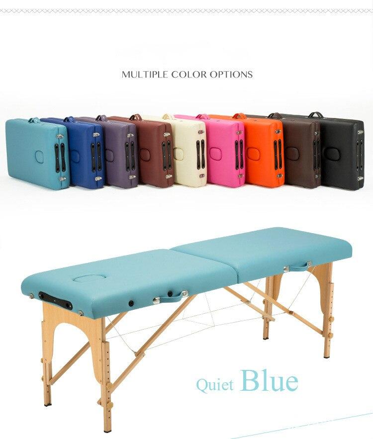 27 Section 185CM60CM Table de Massage Portable légère canapé lit plinthe thérapie Tatoo Salon Reiki guérison Massage suédois 15KG