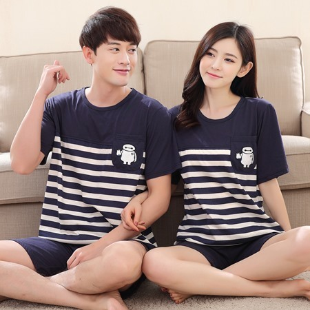 100% Cotton Casual Couple Animal Pajama Set Sleepwear 1