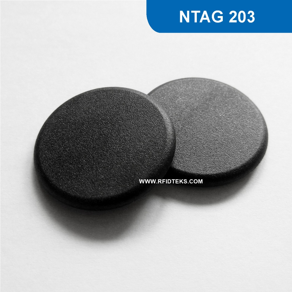 G24 Dia 24mm NFC Laundry Tag RFID Proximity Token PPS RFID TAG 13.56MHZ 144BYTES R/W with NTAG 203 Chip 100pcs high temperature resistant uhf rfid pps laundry tag small with alien h3 chip used for laundry management