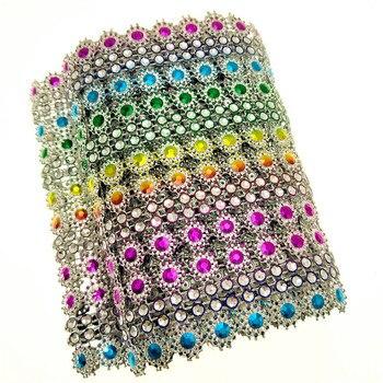 suoja 91.5cm 1yard/lot Rhinestone Chain Diamond Mesh Trim Wedding Sparkle For DIY Crafts Cake Ribbon