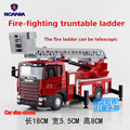 JOYCITY/1:43 Scale/Simulation Die-Cast model SCANIA series toy/The Ladder Fire Truck/for children's gifts or for collections